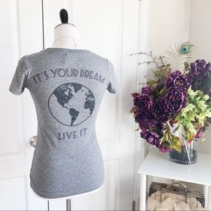 Living the Dream Soft Gray Tee - T-Shirt